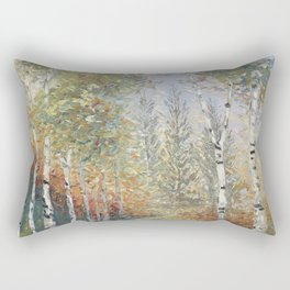 Birch Among the Pines Rectangular Pillow