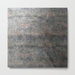 Suede Velvet Mouse - Navy Gradient Metal Print