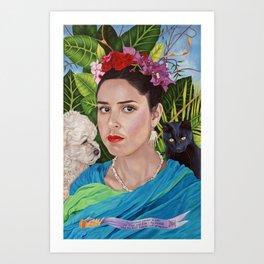 Frida and Me Art Print