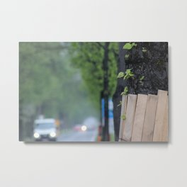 Wood in Wood Metal Print