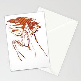 transparent red mako shark Stationery Cards
