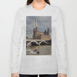 Battersea Power Station with Pink Floyd Pig Long Sleeve T-shirt
