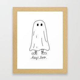 Hey, Boo Framed Art Print