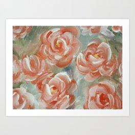 Faded Florals Art Print