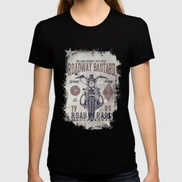 Vintage Motorcycle Poster Style T-shirt