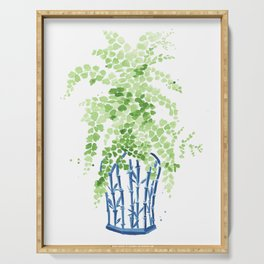 Ginger Jar + Maidenhair Fern Serving Tray