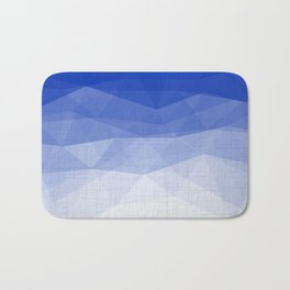 Imperial Lapis Lazuli - Triangles Minimalism Geometry Bath Mat