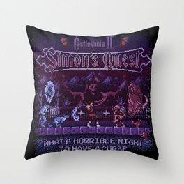 Simon's Vania Castle Quest Throw Pillow