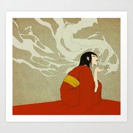volcano -day version- Art Print