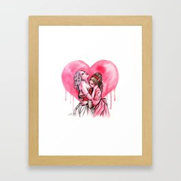 Bleeding Heart Lesbians in Love Framed Art Print