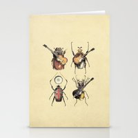 eugenia loli Stationery Cards featuring Meet the Beetles by Eric Fan