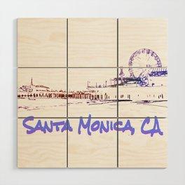 Santa Monica, CA Silhouette Wood Wall Art