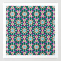 islamic geometric pattern Art Print