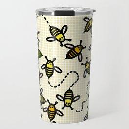 Flying Bees Travel Mug
