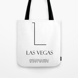 Las Vegas City Coordinates Tote Bag