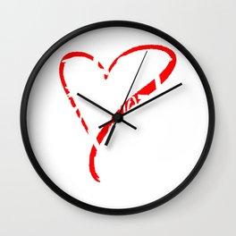 Best Grandmother Ever Love Heart Mother's Day T-Shirt Wall Clock