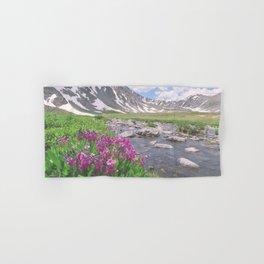 Above the tree line, in the tundra above Breckenridge, Colorado Hand & Bath Towel