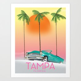 Tampa Florida Travel poster Art Print