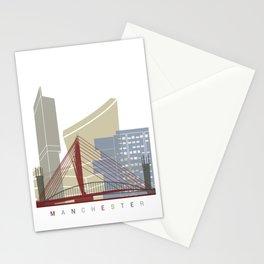 Manchester skyline poster Stationery Cards