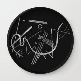Kandinsky - Black Background Abstract art Wall Clock