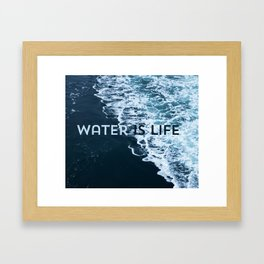 I Stand With Standing Rock Framed Art Print