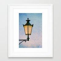 lantern Framed Art Prints featuring lantern by Claudia Drossert