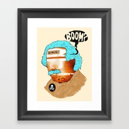 BOOM? Framed Art Print