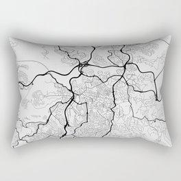 Jerusalem Israel City Map with GPS Coordinates Rectangular Pillow
