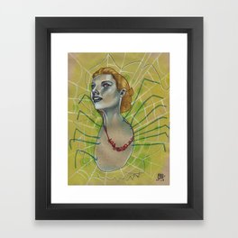 SPIDER WITH NECKLACE Framed Art Print