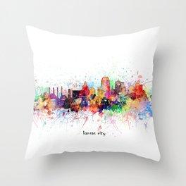 kansas city artistic Throw Pillow