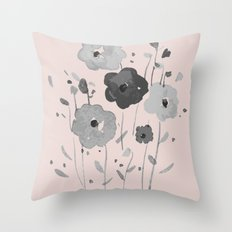 Whimsical spring bloom Throw Pillow
