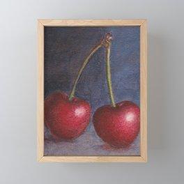 Cherries - Oil Painting Framed Mini Art Print