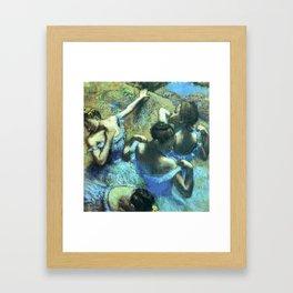 Blue Dancers by Edgar Degas Framed Art Print