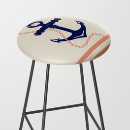AFE Navy Anchor and Chain Bar Stool