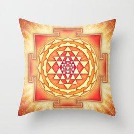 Sri Yantra XVI Throw Pillow