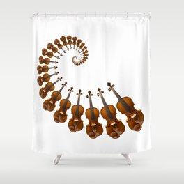 Stradivarius violin spiral music Shower Curtain