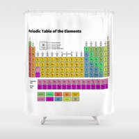 periodic table Shower Curtains featuring Periodic Table of the Elements by Fabian Bross