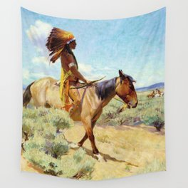 """""""The Chief"""" Western Art by W Herbert Dunton Wall Tapestry"""