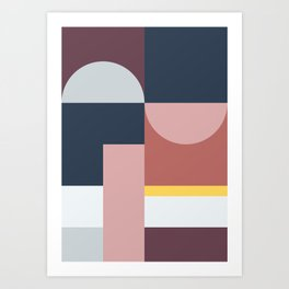 Abstract Geometric 05 Art Print