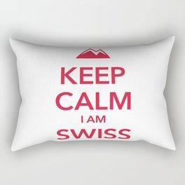 KEEP CALM I AM SWISS Rectangular Pillow