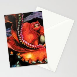 Big Red Octopus Stationery Cards
