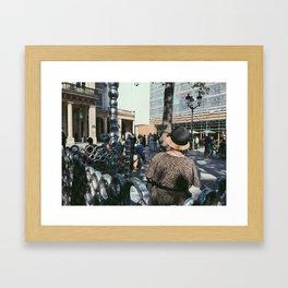 #ParisPostcards || La Parisienne Framed Art Print
