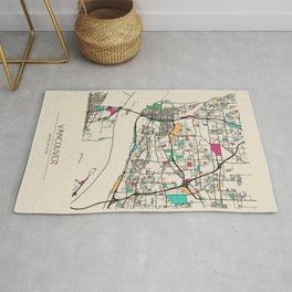 Colorful City Maps: Vancouver, Washington Rug