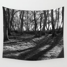 Railway Trees Wall Tapestry