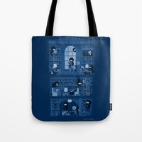 library Tote Bags featuring Silence in the Library by Anna-Maria Jung