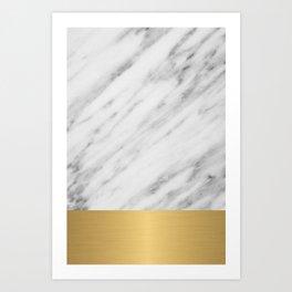 Carrara Italian Marble Holiday Gold Edition Art Print