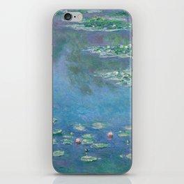 Waterlilies by Claude Monet Fine Art Painting iPhone Skin