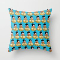 goku Throw Pillows featuring Son Goku by husavendaczek