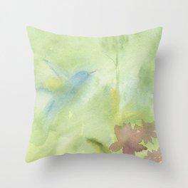 Hummingbird Selah - Sage Green Throw Pillow