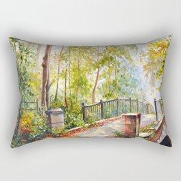 Bridge in the autumn park Rectangular Pillow